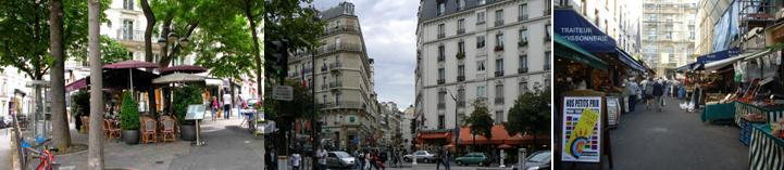 Cafés on the avenue Mac Mahon and the rue Poncelet