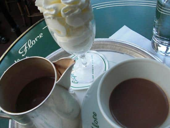 Hot chocolate in Paris