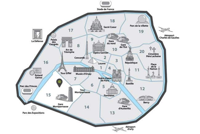 Maps of Paris you need to easily find your way and visit the ...