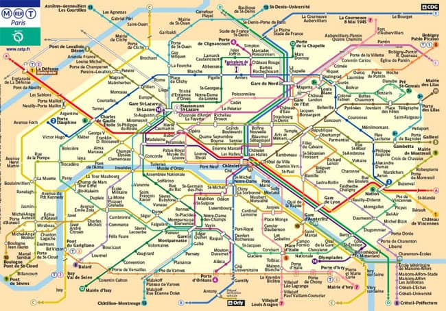 maps of paris you need