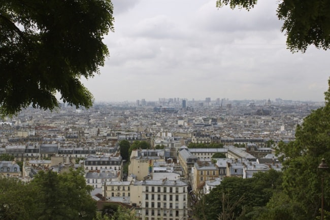 View of Paris from the Sacre Cour