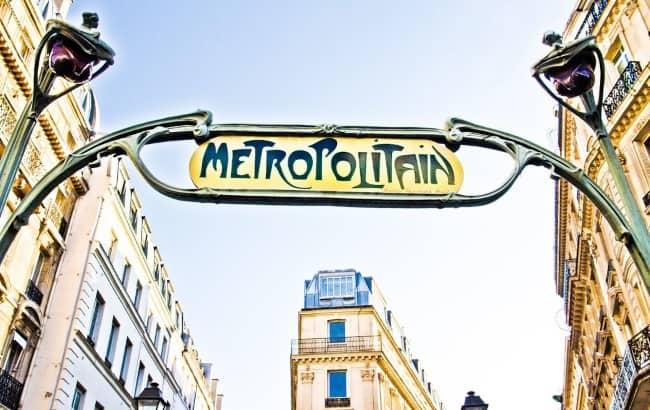 Metro entrance, Paris