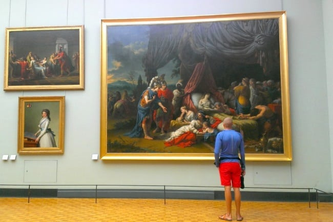 Kaspars in Louvre, Paris