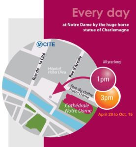 Map of Notre Dame Tour by Discover Walks Paris