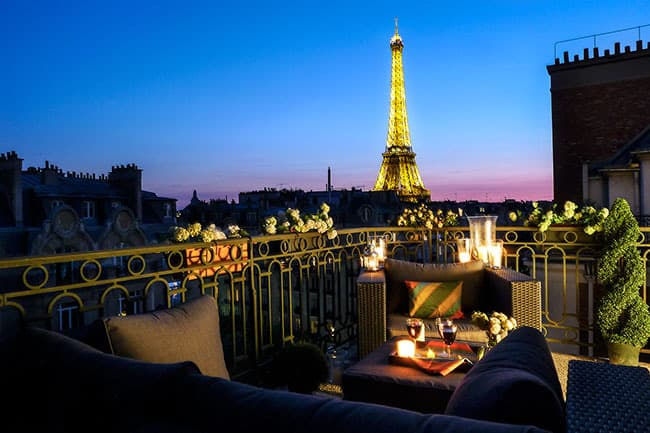Eiffel view dinner