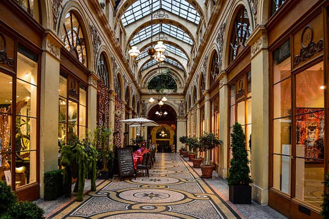 cafe in a covered passage