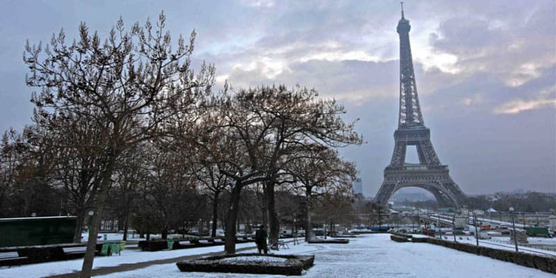 Paris weather in Winter