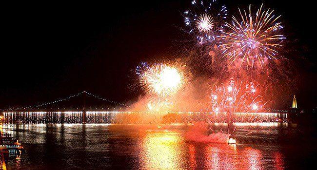 Belem fireworks