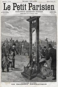 Le Petit Parisien, guillotine