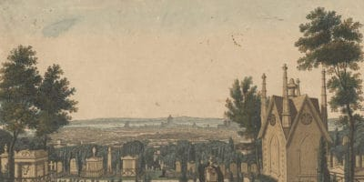 Courvoisier_-_View_of_Pere-Lachaise_Cemetery_from_the_Gothic_Chapel_(cropped)