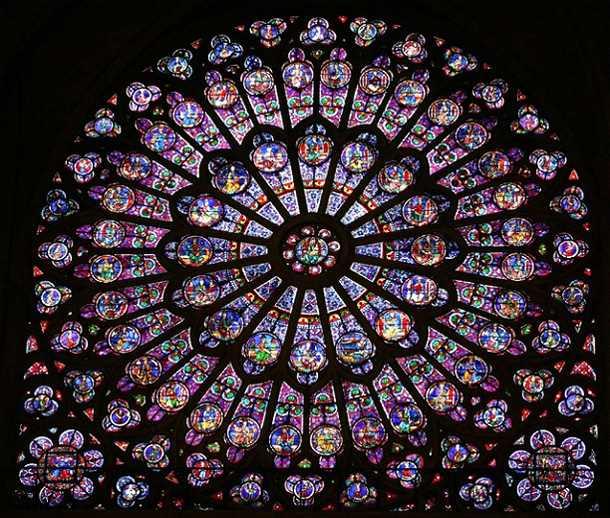 Windows of Notre Dame of Paris