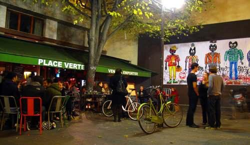 Paris at night bars
