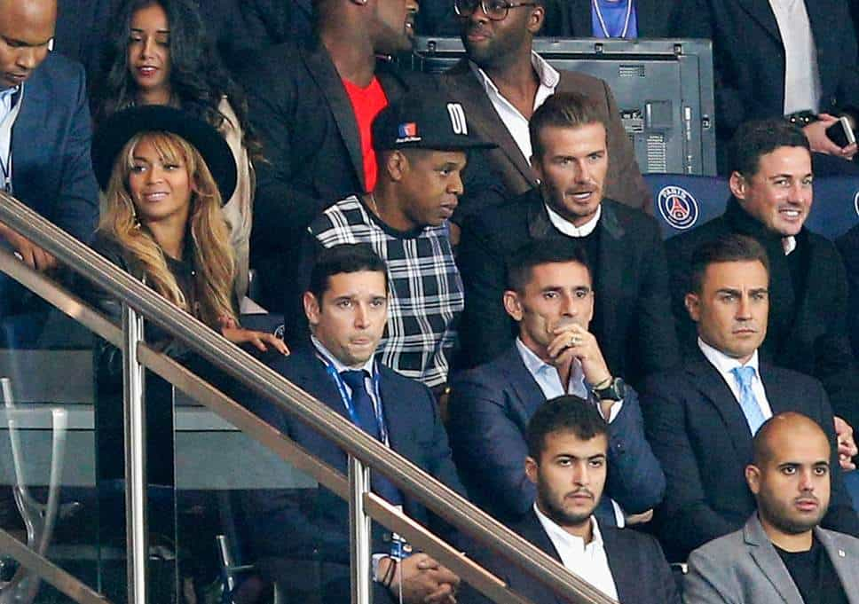 Le PSG accueille les stars avec Beckham et Jay-Z