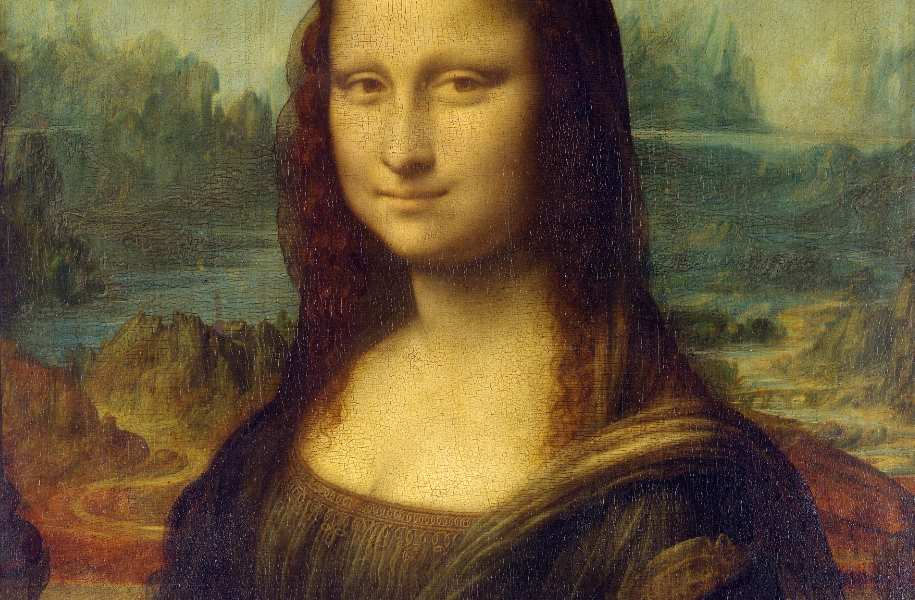 Details of the Mona Lisa painting