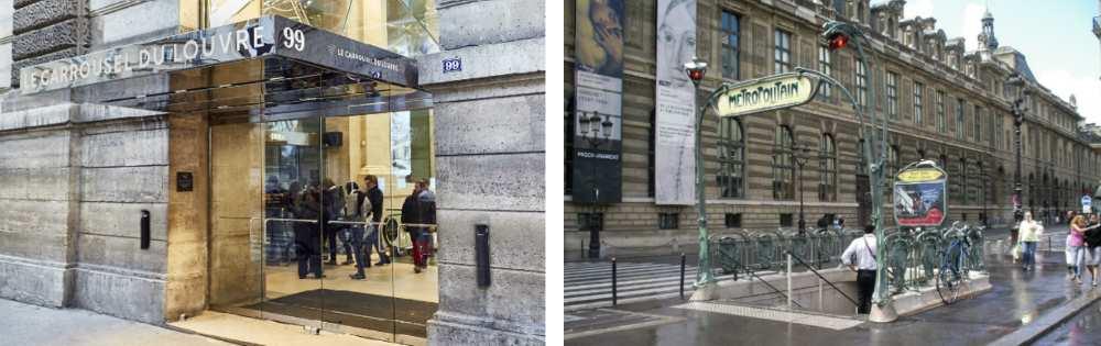 The Louvre entrance