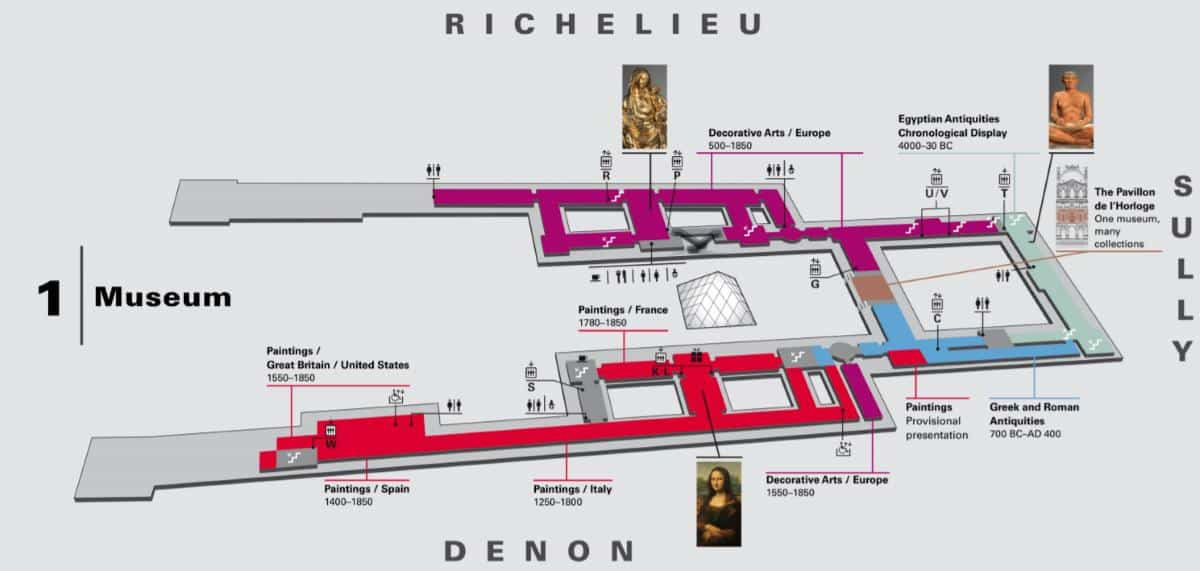 Map of the Louvre