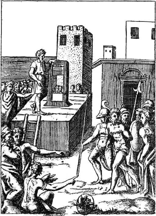Machine à décollation du XVIe siècle