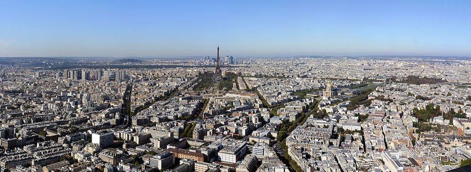 Panorama from Montparnasse Tower