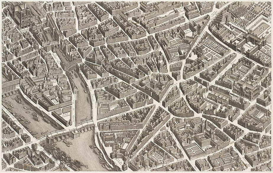 Turgot - Map 16th cy. - St Germain