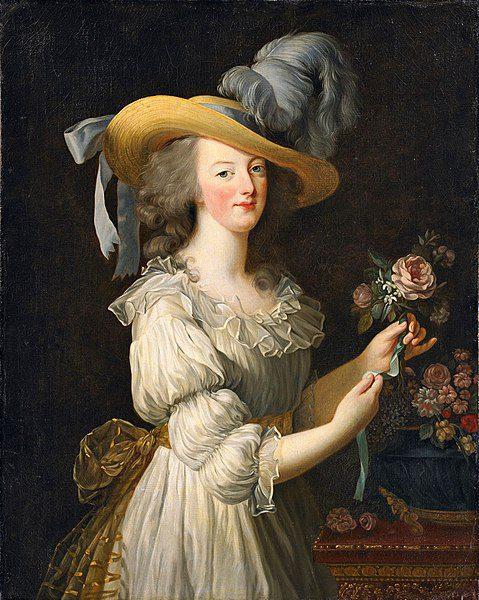 Marie Antoinette in a Muslin dress