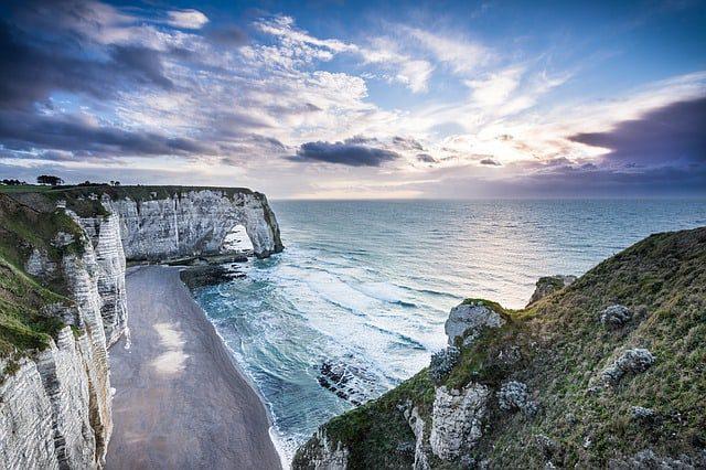 Étretat Normandy Beach Cliff