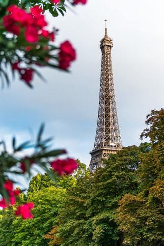 green eiffel tower Paris