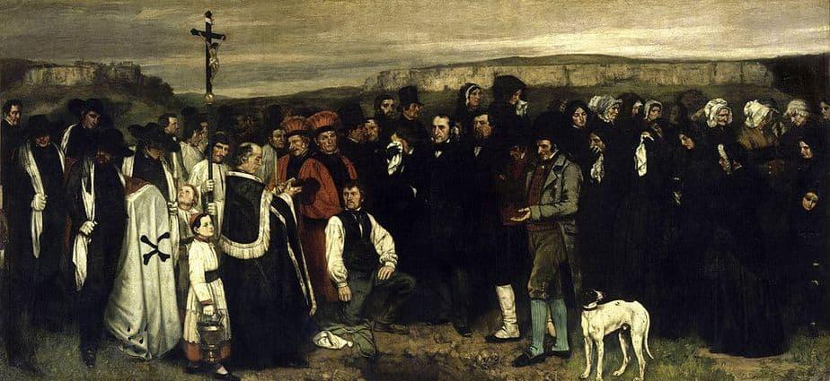COURBET - Un enterrement à Ornans