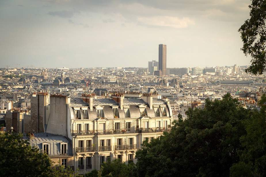 Montparnasse Tower from Montmartre