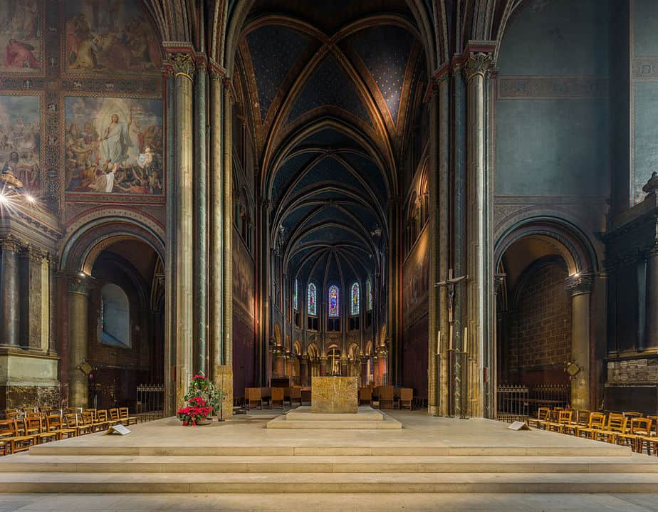 Interior of Saint Germain des Prés