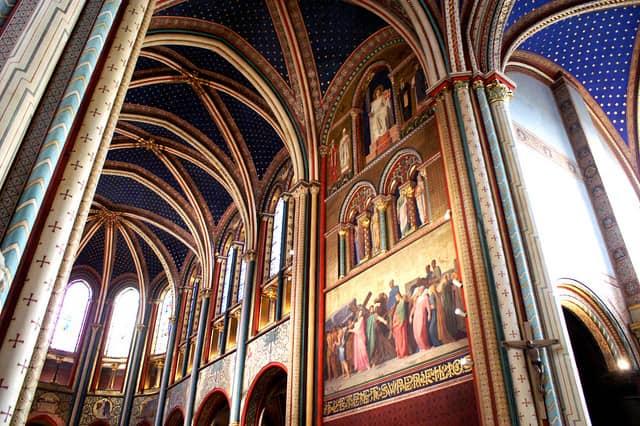 Interior of Saint Germain des Prés church