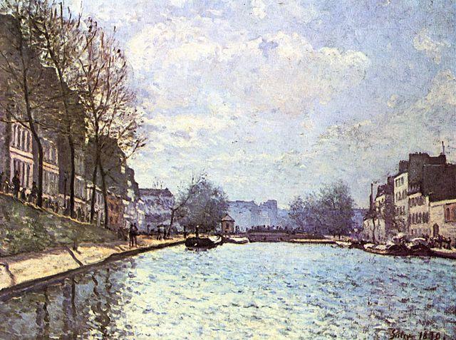 Vue du canal Saint-Martin by Alfred Sisley