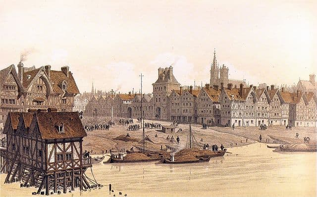 Paris Hotel de Ville in 1583