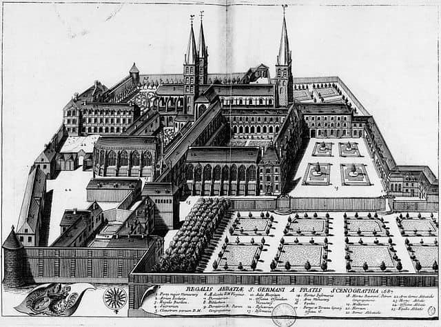 Abbaye Saint Germain des Prés en 1687