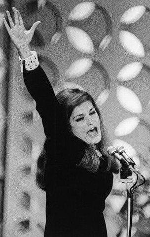 Dalida in 1967 at San remo