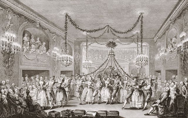 Carnival scene at the court of Versailles