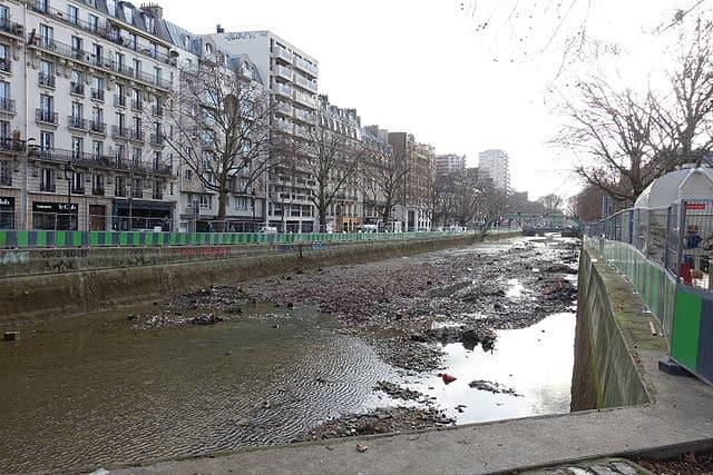 Drained Canal Saint-Martin
