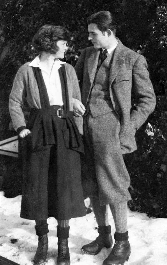 Ernest Hemingway and Hadley 1922