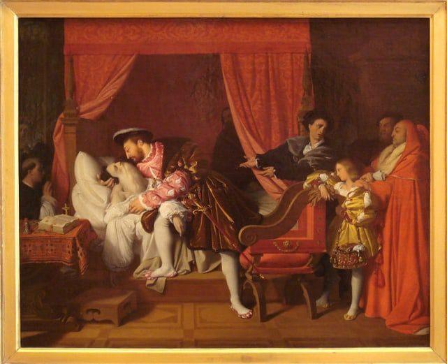 François I Receives the Last Breaths of Leonardo da Vinci