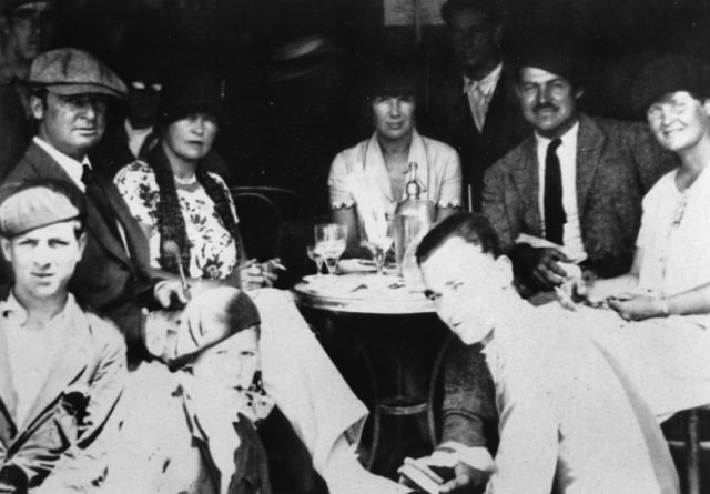 Members of the Lost Generation, including Ernest Hemingway