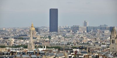 Paris Tour Montparnasse from the Arc de Triomphe