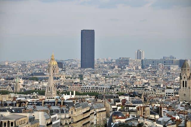 Paris Tour Montparnasse from the Arc de Triomphe