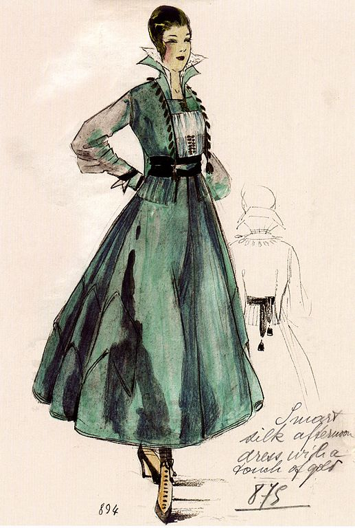 Silk Afternoon Dress by House of Worth 1916