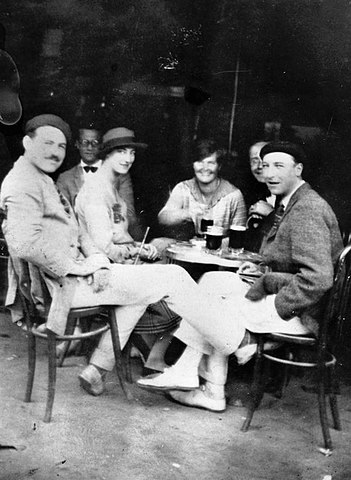 Hemingway with other members of the Lost Generation