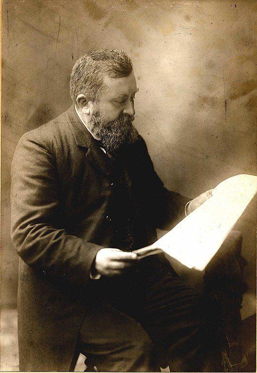 Jean Jaurès reading by Henri Manuel