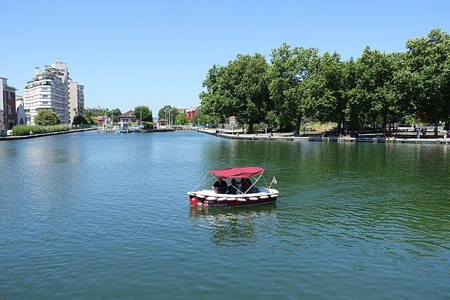 Boat on the Canal de l'Ourcq, La Villette, Paris
