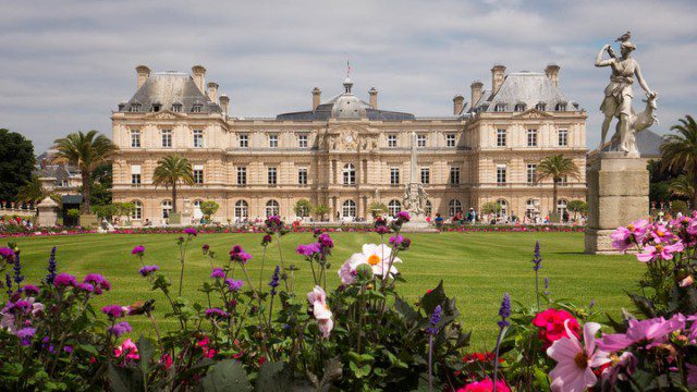 Luxembourg Palace and surrounding gardens