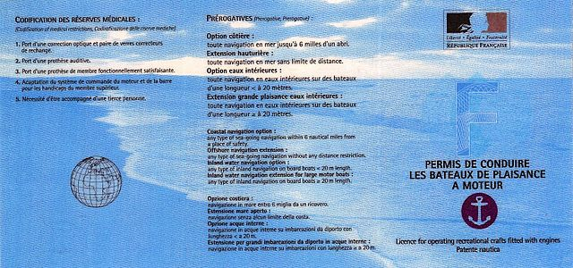 French boating license