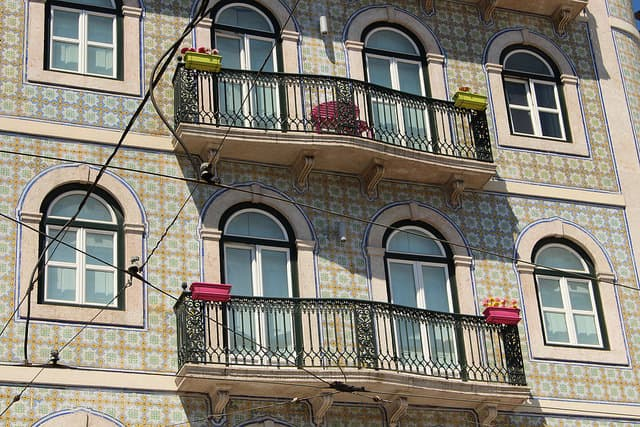 House in Lisbon with Azulejos