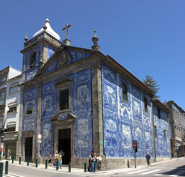 Capela de Santa Catarina, Porto; façade was covered in 1929.