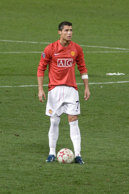 Cristiano Ronaldo in 2008